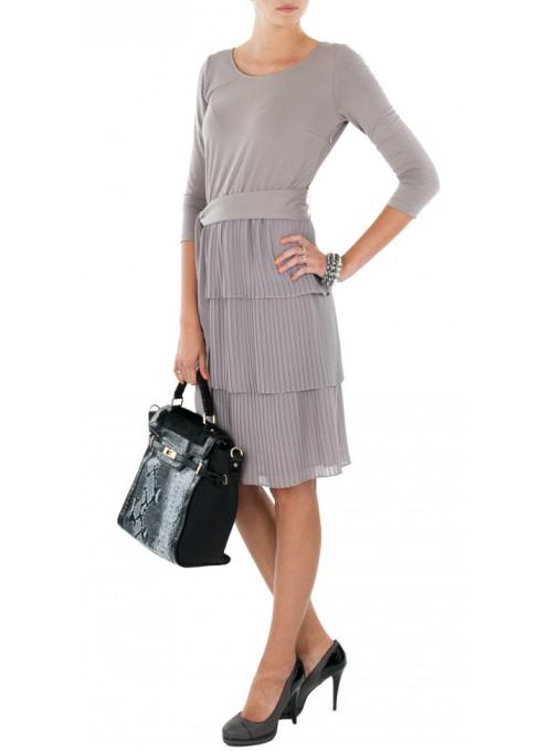 Sukienka plisowana malina