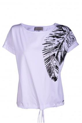T-shirt Negro Biały