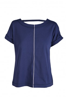 T-shirt Noa Granatowy