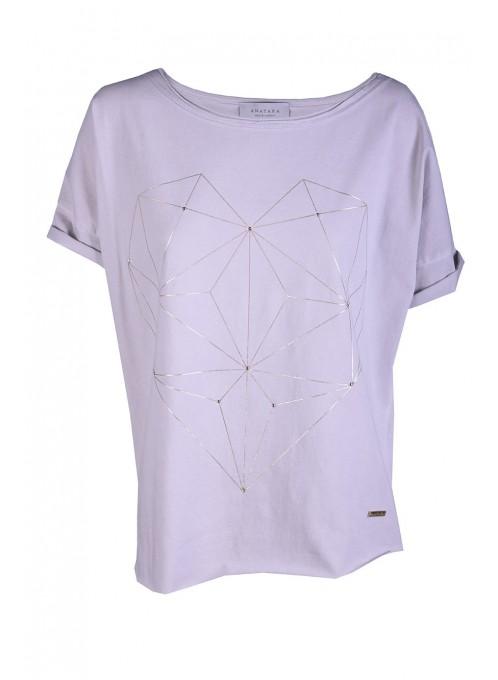 T-shirt Amor Szary