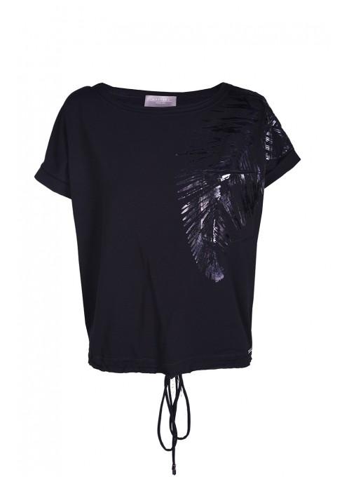 T-shirt Negro Czarny