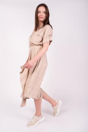 Sukienka Kenia_Beżowa