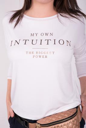 Bluzka Intuition_Biała