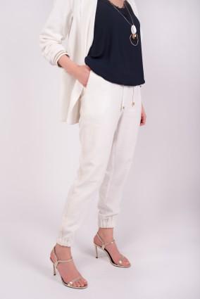 Spodnie Bergamo_Białe