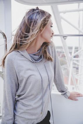 Bluza srebrna z długim rękawem Java
