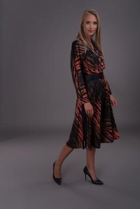 Sukienka w zwierzęcy wzór Okapi_anataka