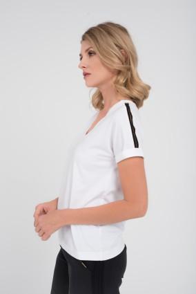 Biały uniwersalny T-shirt ALMA