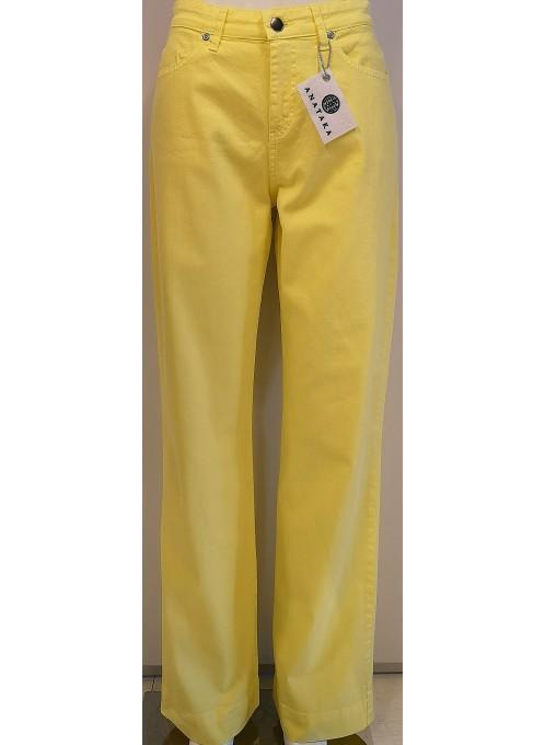 Spodnie Jeans Zółte
