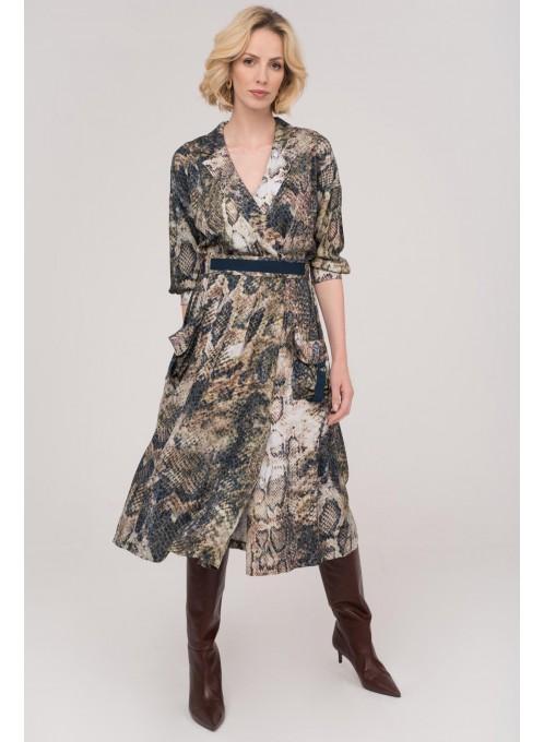 Sukienka w wężowy wzór Anaconda_ANATAKA
