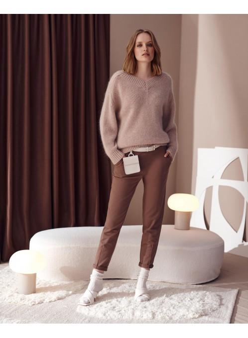 Ultramiękki sweter z moherem Omar Różowy