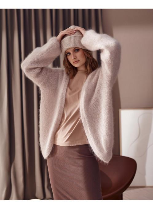 Ultramiękki moherowy sweter Cobo róż