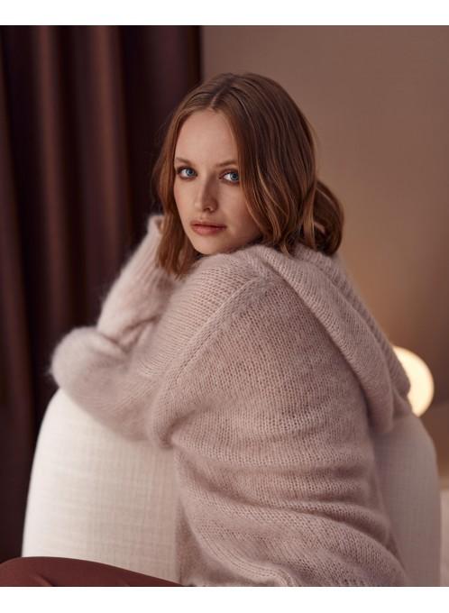 Wełniany sweter Silo różowy